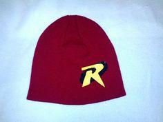ROBIN BOY WONDER Hat Batman Sidekick Red Beanie