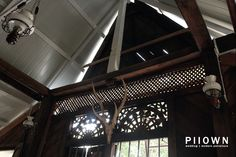 Window detail & the roof in a traditional Kedah Malay house. #malaysia