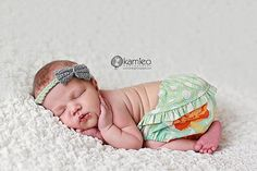 Green Yellow and Orange Ruffled Baby Bloomers by StitchToStitch, $21.00