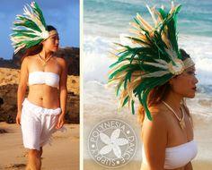 Ready to Ship Tahitian Costume Side Head Piece Medium Size via Etsy