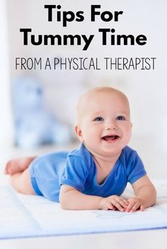 tips for tummy time from a physical therapist