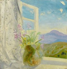 Winifred Nicholson  - Cumberland Hills, 1948,  Oil on wood, 47 x 45.6 cm,  Arts Council Collection