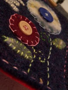 Handmade Wool Felt Penny Rug Welcome Sign $30