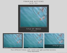 Framing Actions #photoshop #actions