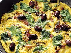 Frittata med fusillini, bacon och fetaost (kock recept.nu)