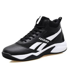 62a363e5ac02 Mens Basketball Sports Shoes Absorption Athletic Sneaker High Top Antiskid  Lace  fashion  clothing