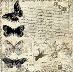 Printing Ideas Useful Info: 3158652253 Decoupage Vintage, Vintage Paper, Vintage Butterfly, Butterfly Art, Butterflies, Vintage Labels, Vintage Ephemera, Background Vintage, Paper Background