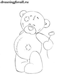 how to draw a teddy bear Easy Drawings Sketches, Pencil Art Drawings, How To Draw Wolverine, Teddy Bear Drawing, Caricature Drawing, Tatty Teddy, Drawing Lessons, Line Drawing, Creative Art