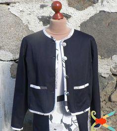 Atelier transformation du corsage sans pince semi-transformé  en veste style Chanel