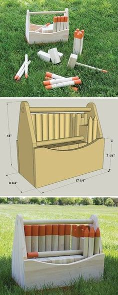 "This fun, challenging outdoor game (pronounced ""koob"") reportedly dates back to the Viking Ages. Today, it's more popular than ever, for good reason. Our version is fun to build from simple materials, too, and includes a carrying box. We've even include links to official rules in the ""extras"" tab. Download the free DIY plans at http://buildsomething.com"