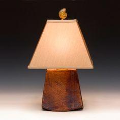 raku fired lamp