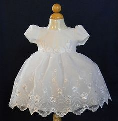New-Baby-Girls-Off-White-Dress-Baptism-Christening-Dedication-Easter-Party-3424