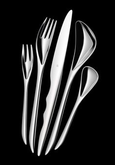 even for a set of spoonware looks cool ☆__ ✰ >> Zaha Hadid Architects   Cutlery Interesting...