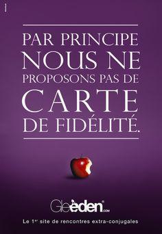 """Une des trois affiches que l'on pouvait trouver sur Paris début juillet 2011 pour Gleeden : """"1er site de rencontres extra-conjugales"""""""