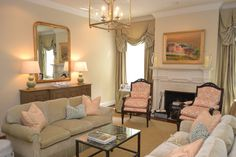 LUCY WILLIAMS INTERIOR DESIGN BLOG: BEFORE AND AFTER: WATERFRONT LIVING ROOM WALL