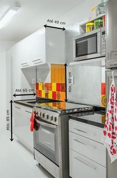 medidas da cozinha