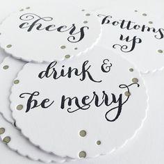 scalloped letterpress coasters by penelopespress on Etsy