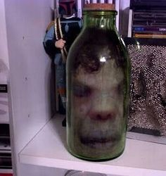 head in a jar great idea for halloween decoration seems easy enough - Scary Halloween Decorations Ideas Homemade