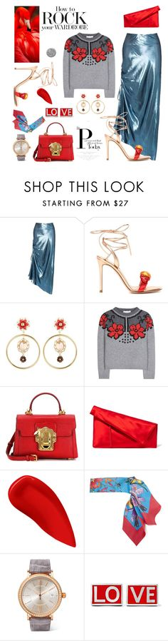 """Flamingo"" by sue-mes ❤ liked on Polyvore featuring E L L E R Y, Gianvito Rossi, Dolce&Gabbana, STELLA McCARTNEY, Diane Von Furstenberg, Lipstick Queen, Gucci, IWC Schaffhausen, Givenchy and Burberry"