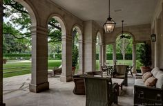 Pool House Veranda  The Crespi/Hicks Estate is considered the finest estate home in America.