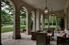 Pool House Veranda  The Crespi/Hicks Estate is considered the finest estate home in America.