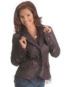 Scully String Fringe Leather Jacket