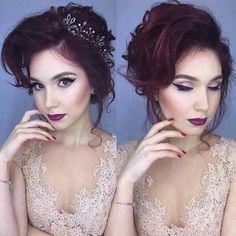Dark lips prom berry lipstick