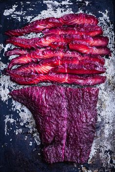 A visually stunning beet cured salmon recipe seasoned with freshly ground spices and ginger thats deceptively simple to make and exceptionally marvelous to look at and eat! Beet Recipes, Salmon Recipes, Fish Recipes, Seafood Recipes, Dinner Recipes, Cooking Recipes, Roasted Salmon, Smoked Salmon, Fish And Seafood