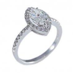Diamond marquise cut engagement ring