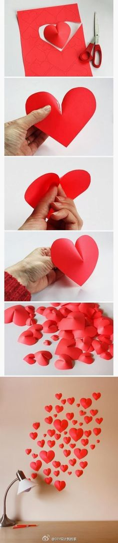 My DIY Projects: Make a 3D Paper Heart For Decoration