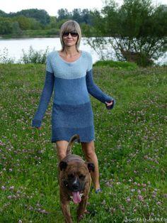 swetry doroty: sukienka na drutach
