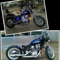 Honda Shadow bobber (before / after)
