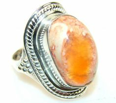 Beauty Mexican Fire Opal Sterling Silver Ring s. 8