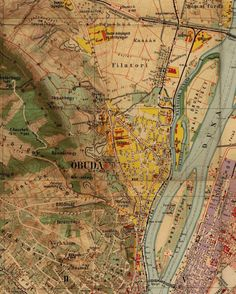 Ilyen is volt Budapest - Óbuda, térképrészlet Old Pictures, Old Photos, Budapest City, City Maps, Hungary, Austria, Vintage World Maps, The Past, Country