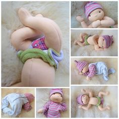 Waldorf inspired baby doll