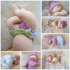Waldorf inspired baby doll - nurture baby boy Pavlík