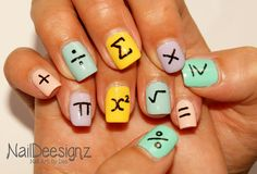 Back to School Maths Nail Art .x.  https://www.facebook.com/shorthaircutstyles/posts/1759165267707246