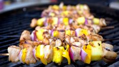 Kuracie špízy s ananásom   Recepty.sk Pineapple Kabobs, Peach Syrup, Grill Plate, Creole Recipes, Boneless Chicken Breast, Appetizer Dips, Clean Eating Snacks, Food Hacks, Stuffed Peppers