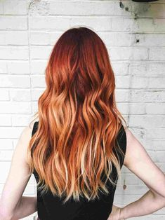 Balayage Long Hair, Copper Balayage, Hair Color Balayage, Copper Ombre, Brown Hair Red Balayage, Copper Highlights, Hair Color Shades, Red Hair Color, Brown Hair Colors
