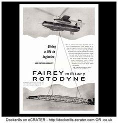 Fairey Rotodyne. Vintage advert from Interavia Magazine, 1961.