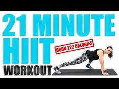 21 Minute HIIT Workout - YouTube