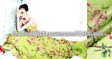 Projektant 100% czysty naturalny mulberry silk organza tkaniny satyna 1 miernik zielony i różowy o058(China (Mainland))