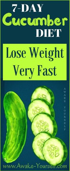 Lose Weight Fast With This AMAZING 7-Day Cucumber Diet – USA Evening