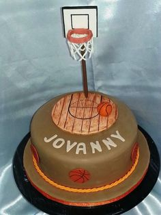 basketball cake sports cake fondant floor wood custom