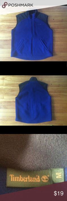 Timberland Men Fleece Vest NWOT, never worn! Even forgot when we got it... It's a M but can fit a L. Clean closet, offers are welcome Timberland Jackets & Coats Vests