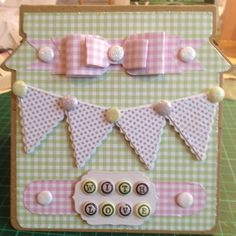Craftwork Cards Kraft Jam Jar and Macaroon papers and bows.