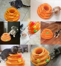 Interactive Pet Cat Ball Toys DIKASI Three Levers Tower of Tracks Bar (Include 3x Mice Toys) Mental Physical Exercise for Kittens and Endless Play Amusement Plate AntiSlip Active Healthy Lifestyle. * To view further for this item, visit the image link. (This is an affiliate link) #CatToys #catandkittens