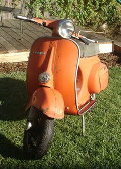 Orange Vespa :)