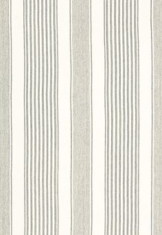Schumacher - Summerville Linen Stripe (Gull) - this fabric would make really gorgeous quilts / cushions! Textile Patterns, Print Patterns, Graphic Patterns, Fabric Design, Pattern Design, Stripe Pattern, Striped Fabrics, Striped Upholstery Fabric, Schumacher