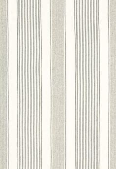 Summerville Linen Stripe in Gull from Schumacher